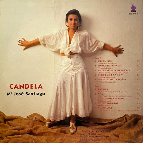 Trasera del disco Candela