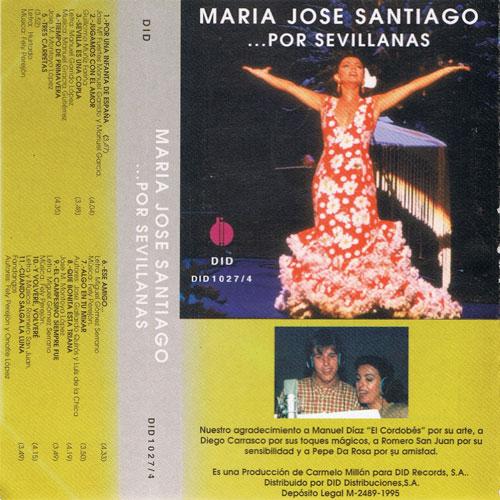 Imagen del cassette María José Santiago por sevillanas