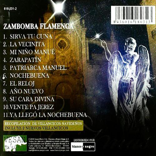 Imagen trasera del disco Zambomba Flamenca